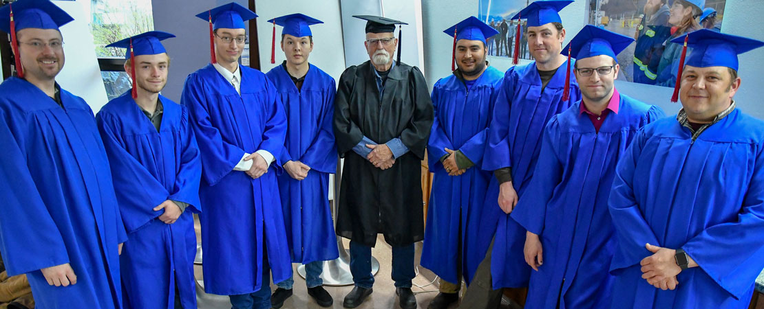 Millwright Class at Commencement
