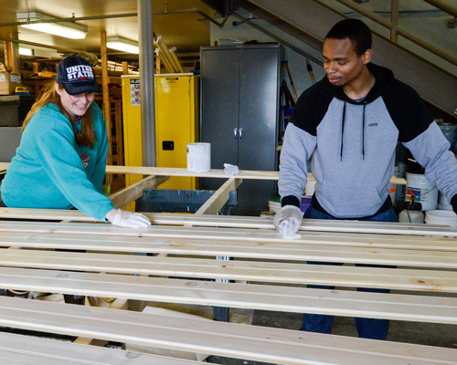 PWSC students volunteer to build tiny house
