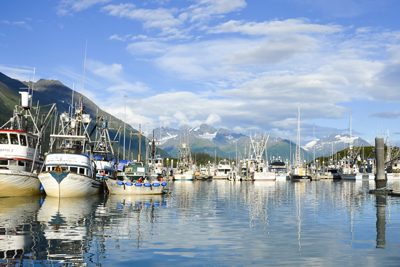 The harbor in Valdez, Alaska