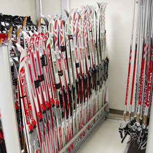 Cross-country ski gear at PWSC Health & Fitness Center