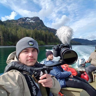 Jeremy Gallman on assignment with Seed Media in Alaska