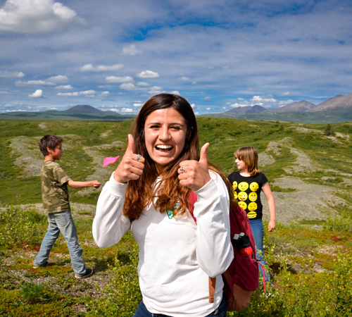 Kaylee, Outdoor Leadership student at Prince William Sound College in Valdez, Alaska