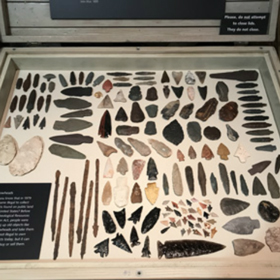 Arrowhead collection at the PWSC Maxine & Jesse Whitney Museum