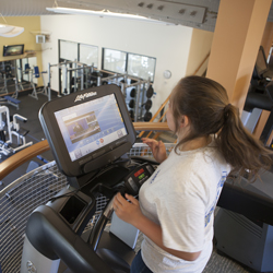 Student in the PWSC Health & Fitness Center